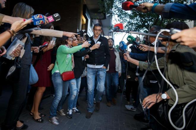 El diputado 'crítico' Eduardo Madina, a su llegada al Comité Federal del PSOE.