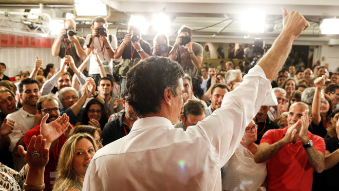 Pedro Sánchez, el día que fue elegido líder del PSOE en 2014.