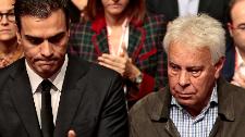 Pedro Sánchez, Felipe González y José Luis Rodríguez Zapatero en...