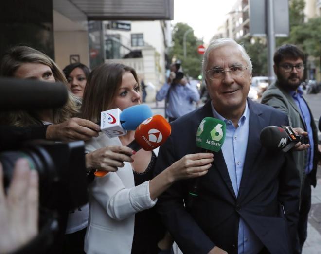 José María Barreda, el sábado, a su llegada al Comité Federal del...