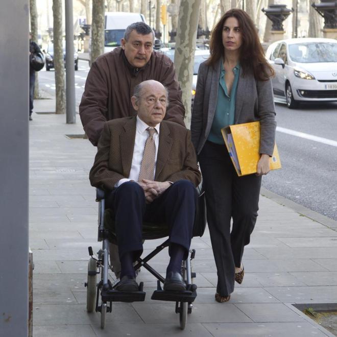 Felix Millet llegando a la Audiencia para declarar sobre el caso del Hotel del Palau