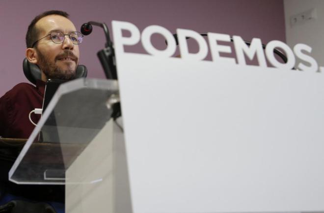 Pablo Echenique, en rueda de prensa tras el Consejo de Coordinación...