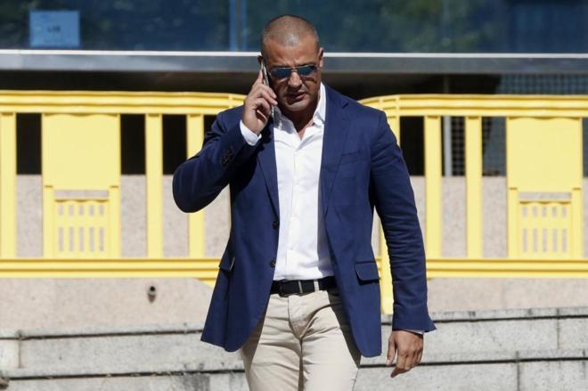 Miguel Ángel Flores a su salida de la Audiencia Provincial de Madrid.