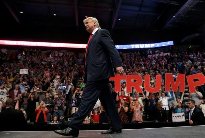 El candidato republicano a la presidencia de EEUU, Donald Trump, durante un acto de campaña en Loveland, Colorado.