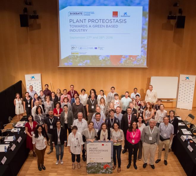 Los asistentes a las jornadas B Debate 'Towards a biobased economy', organizadas por la Obra Social la Caixa y Biocat.