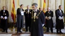 Carlos Lesmes, presidente del Tribunal Supremo y del CGPJ, en la...