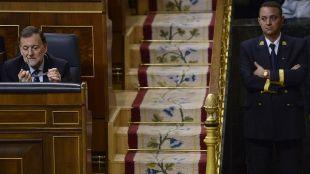 Mariano Rajoy, durante el debate de su investidura fallida.