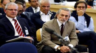 Pablo Crespo y Francisco Correa, en el banquillo de los acusados.