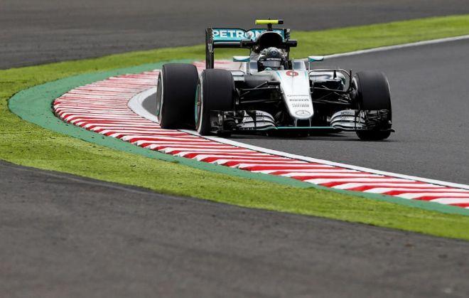 Nico Rosberg, durante la sesión de entrenamientos libres.