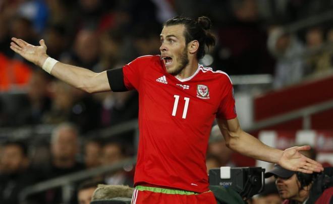 Bale, durante el partido ante Gales.