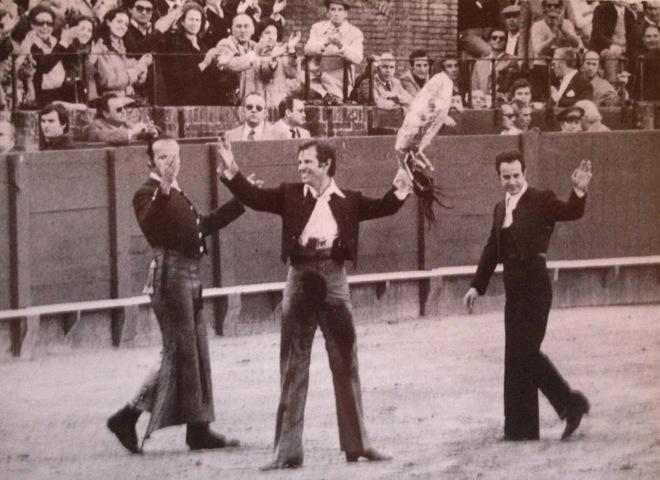 Álvaro Domecq, Diego Puerta y El Cordobés, el 4 de marzo de 1978.