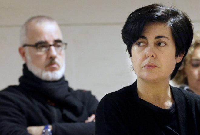 Alfonso Basterra y Rosario Porto durante el juicio.