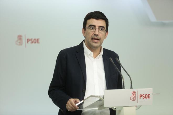 Mario Jiménez, portavoz de la Comisión Gestora del PSOE.