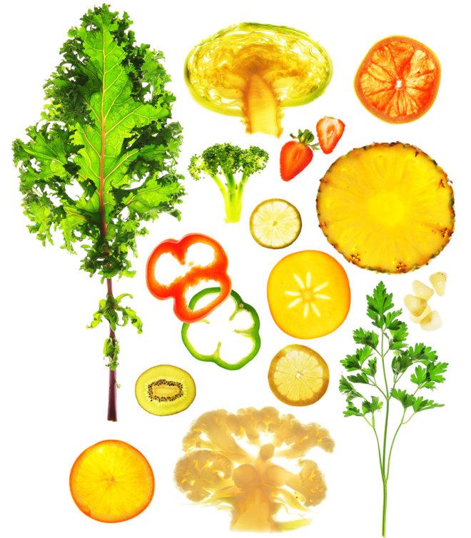 Las frutas ácidas y buena parte de las verduras son grandes fuentes de vitamina C.