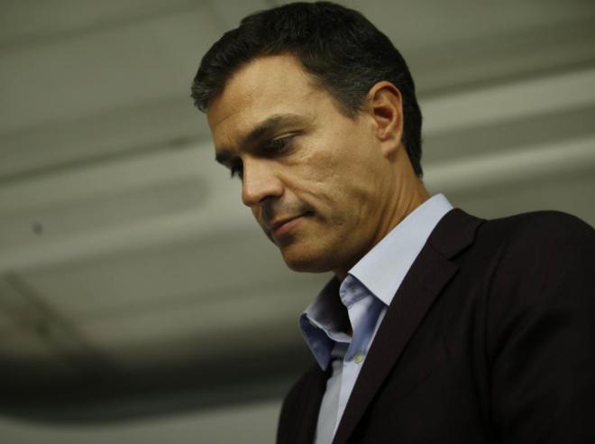 Pedro Sánchez, el día que presentó su dimisión tras el Comité...