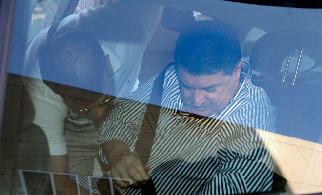 José Luis Olivas el día que fue detenido por la Guardia Civil en Valencia.