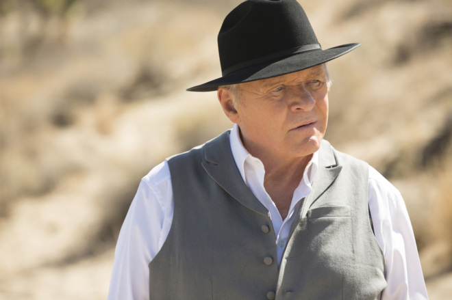 Anthony Hopkins, en Westworld.