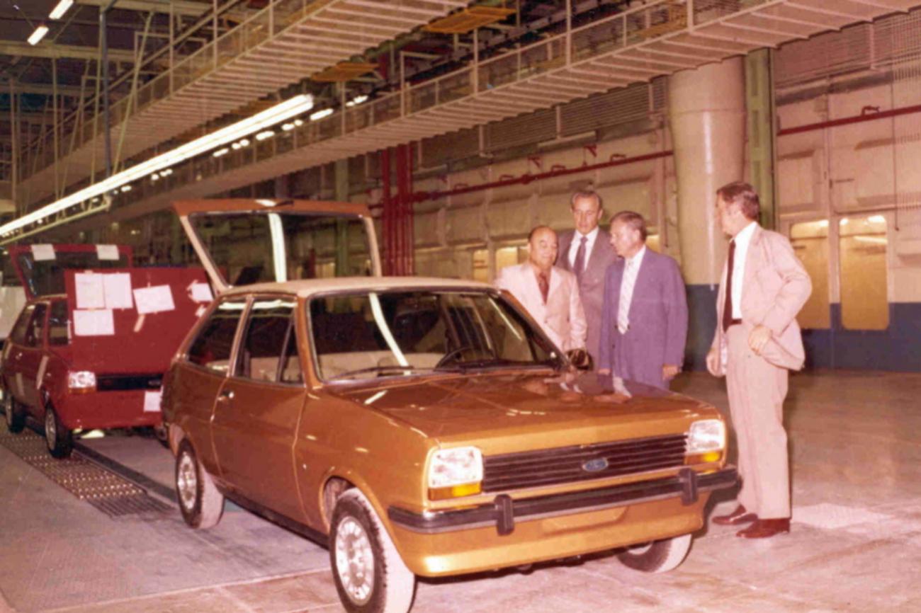 El primer Ford Fiesta salido de Almussafes