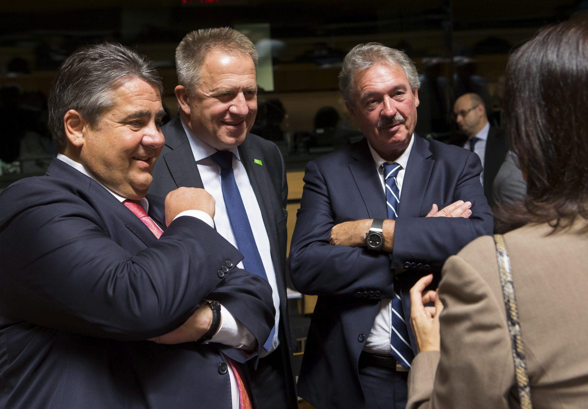 Reunión del consejo de ministros de Comercio de la UE sobre el CETA.