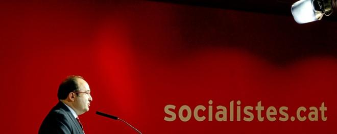 El líder de los socialistas catalanes, Miquel Iceta, el pasado lunes...