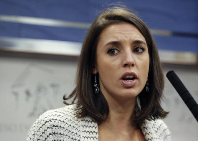 Irene Montero, portavoz adjunta de Podemos en el Congreso de los...