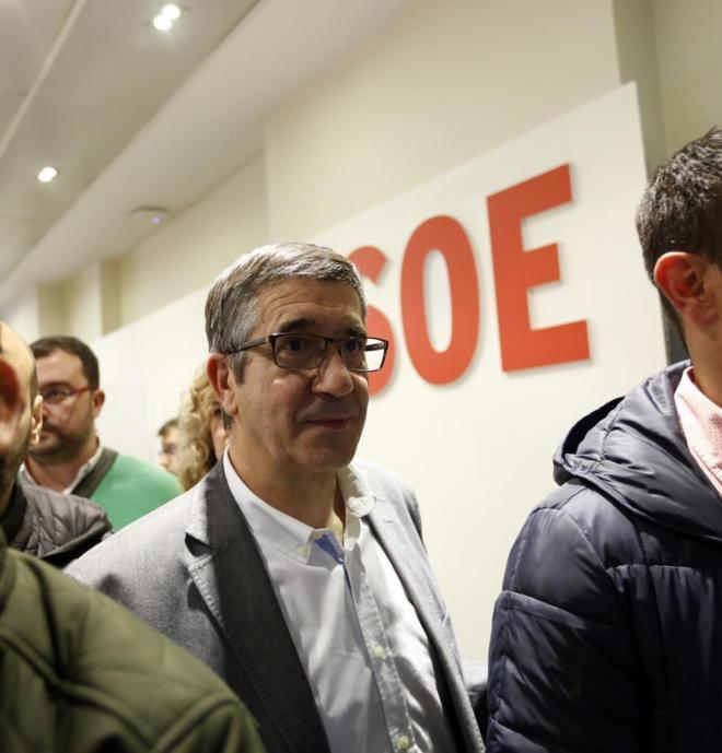 El diputado vasco Patxi López, a la salida del Comité Federal.