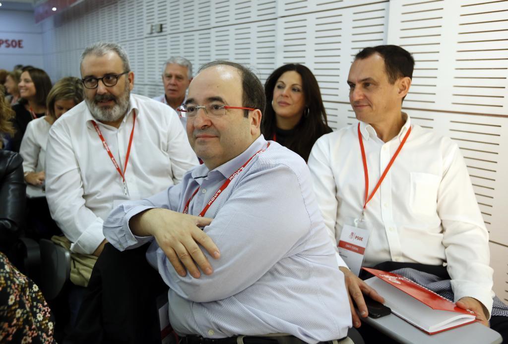 Miquel Iceta en la reunión del Comite Federal del PSOE en Ferraz.