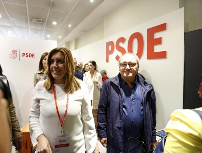 Susana Díaz, tras el Comité Federal del domingo donde se decidió la abstención del PSOE.