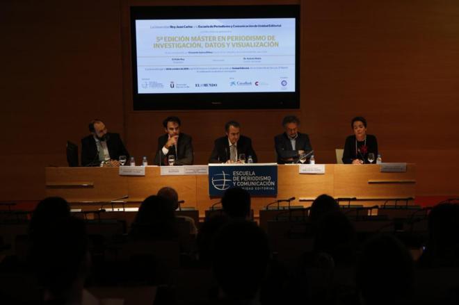 Juan Antonio García Fermosel, Pablo Ruz, Fernando Suárez Bilbao, Antonio Rubio y Paz Uruñuela (de izqda. a dcha.).