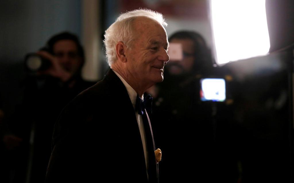 El Bill Murray momentos antes de recibir el galardón.