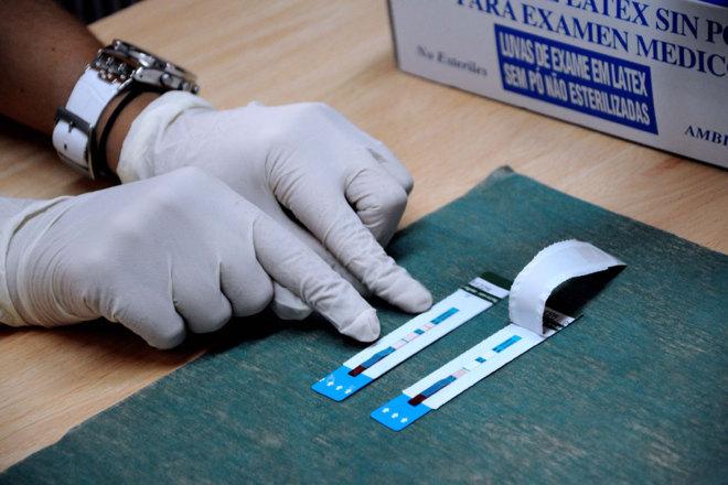 La prueba rápida del VIH