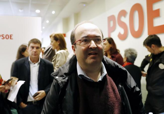 Miquel Iceta a su salida del Comité Federal del PSOE del pasado domingo.