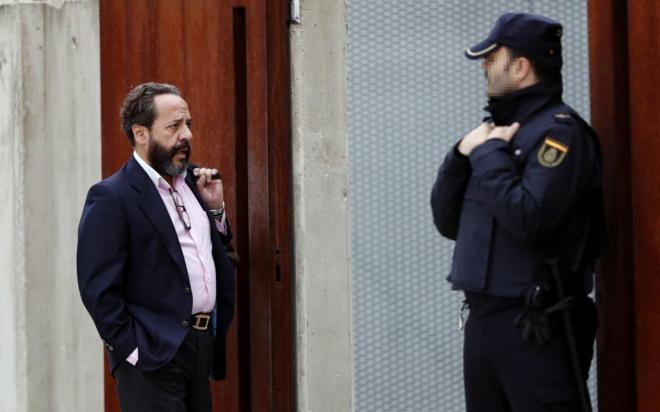 Álvaro Pérez, 'El Bigotes', a su llegada a la Audiencia Nacional.