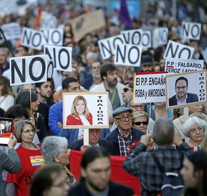 La manifestación Rodea el Congreso, ayer en Neptuno.