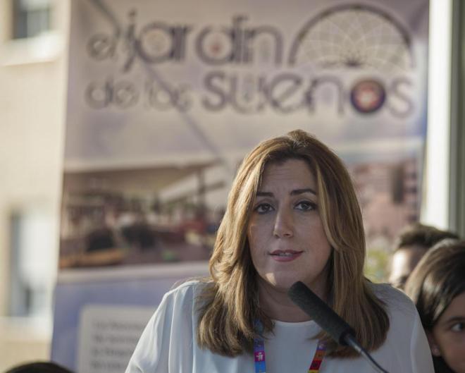 Susana Díaz, en un acto celebrado en Jaén el pasado viernes.