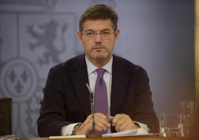 Rafael Catalá, en una rueda de prensa tras el Consejo de Ministros...