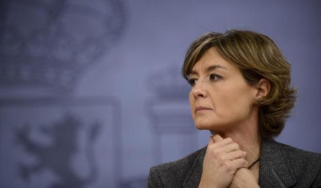 Isabel García Tejerina, en una rueda de prensa celebrada tras un...