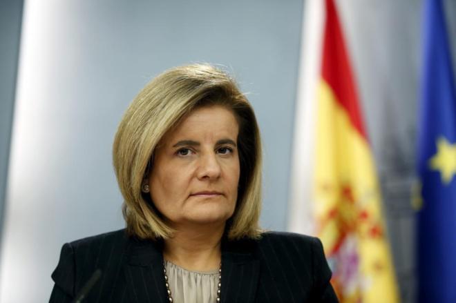 Fátima Báñez, en una rueda de prensa tras un Consejo de Ministros...