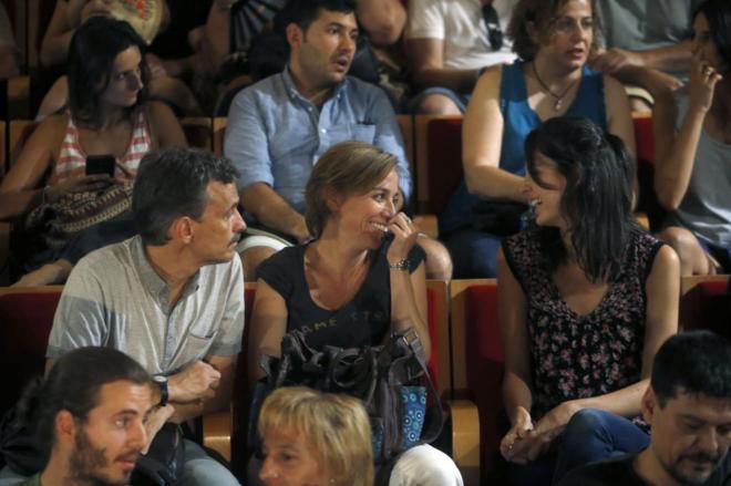 Rita Maestre, Tania Sánchez y José Manuel López, de la candidatura Adelante Podemos