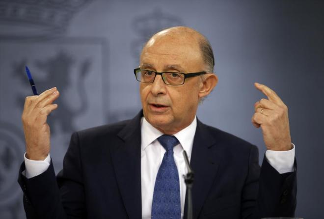 Cristóbal Montoro, en rueda de prensa posterior al Consejo de...