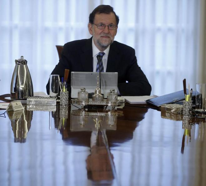Mariano Rajoy, en su primer Consejo de Ministros con su nuevo Gobierno.