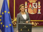 María Dolores de Cospedal toma posesión como ministra de Defensa.