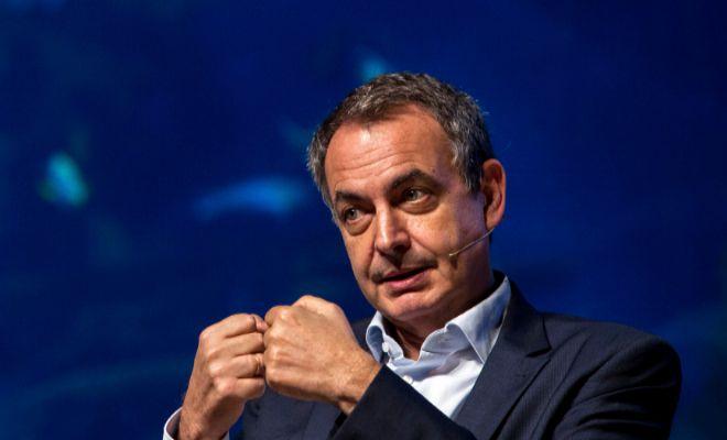 El ex presidente del Gobierno José Luis Rodríguez Zapatero durante su intervención ayer en el Foro Global Sur.