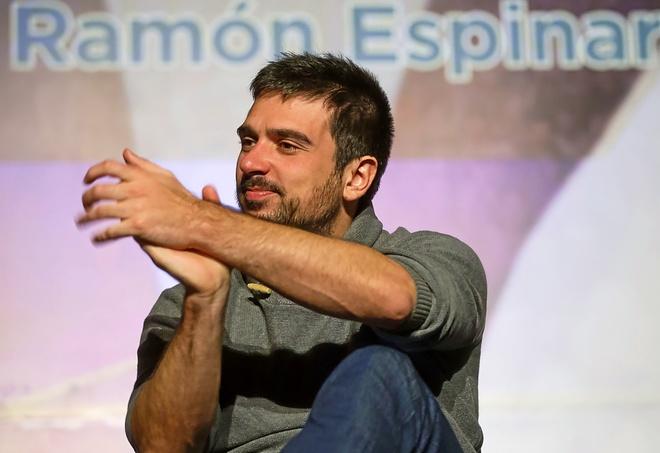 Ramón Espinar, este sábado, en un acto de su candidatura en Madrid.