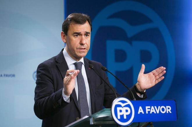 Fernando Martínez Maillo, en un momento de la rueda de prensa...