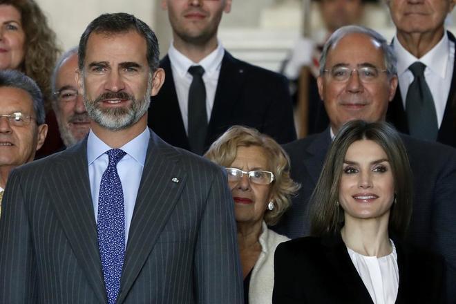 Los Reyes, esta mañana en el Palacio Real de Aranjuez por los actos...