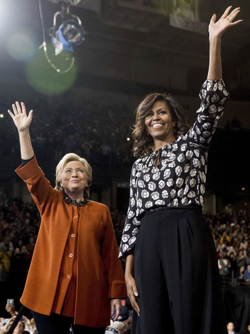 Michelle Obama ha acudido a apoyar a la candidata demócrata,Hillary...