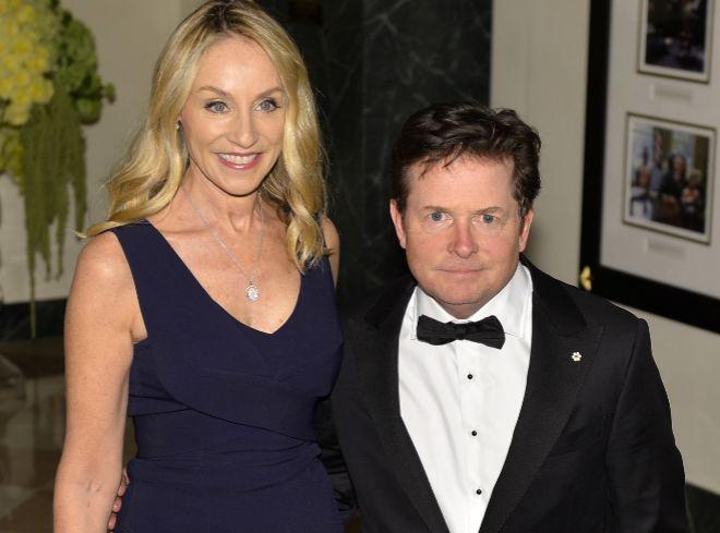 Michael J. Fox, junto a su mujer, Tracy Pollan.