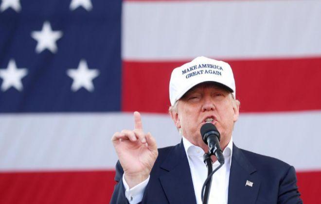 Donald Trump, en un momento de la campaña electoral, en Miami.