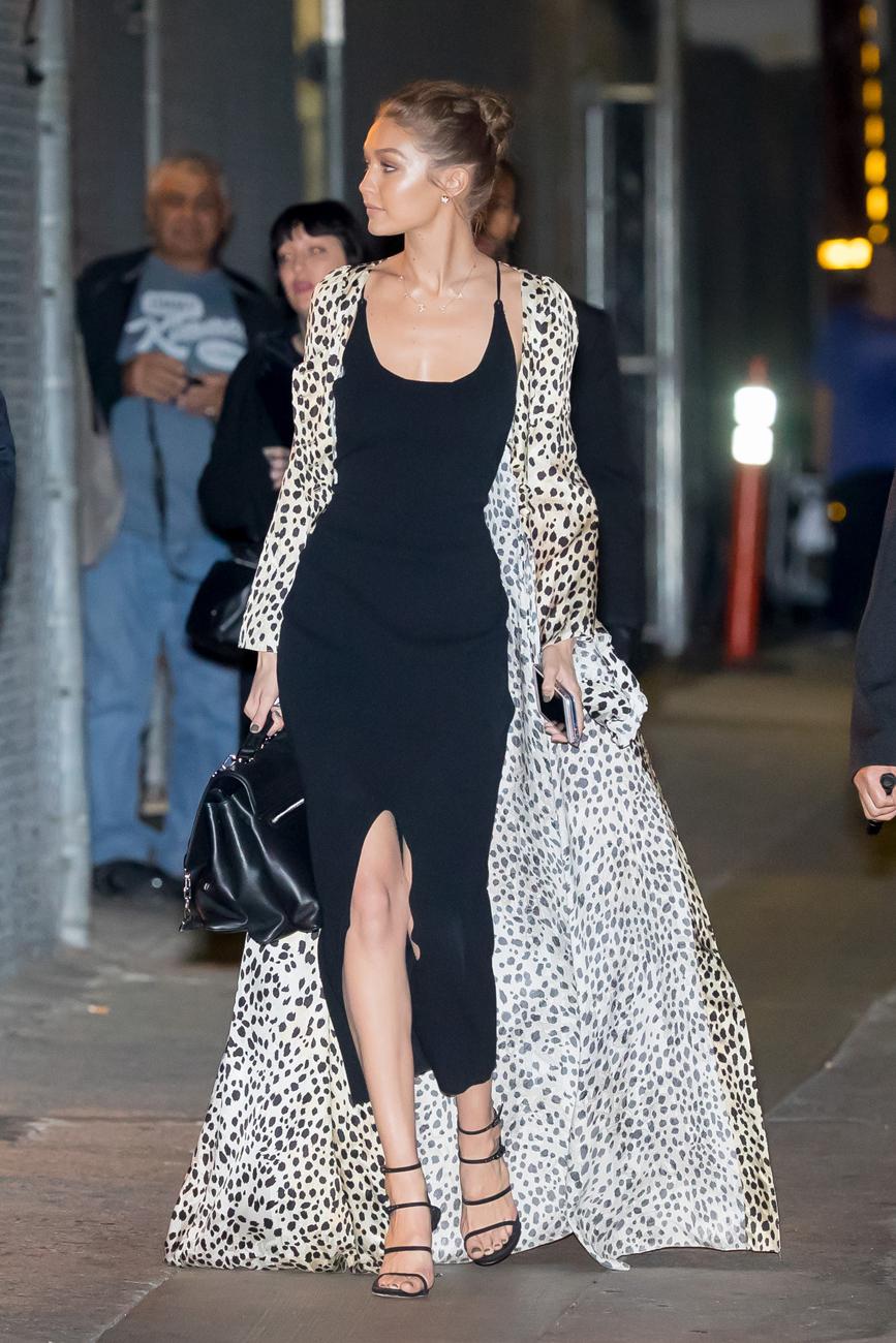 La modelo voló a Los Angeles para acudir al show de Jimmy Kimmel. El...